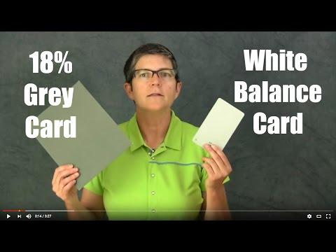 Comparison: 18% Grey card with white balance grey card