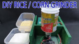 Build 12volt Rice/corn Grinder With 775 Motor