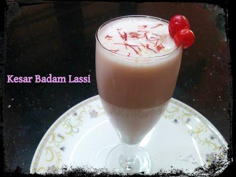 Kesar Badam Lassi--Lassi Recipe in Hindi--How To Make Punjabi Lassi-Meethi Lassi-Sweet Yogurt Drinks
