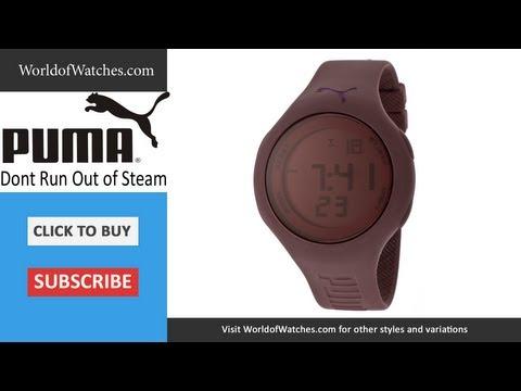 PUMA Don't Run Out Of Steam Multi-Function Mauve Digital Dial Silicone PU910801014