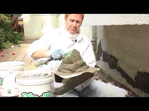 how to Remove and fix buckling stucco or plaster