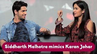 Download Siddharth Malhotra Mimics Karan Johar!! Video