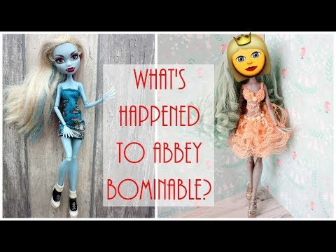 Monster High Doll Repaint / How to Customize Abbey Bominable DIY Craft Tutorial Easy / Custom Doll