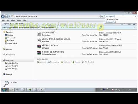 Windows 7 Tips (Ultimate) : How to find large files