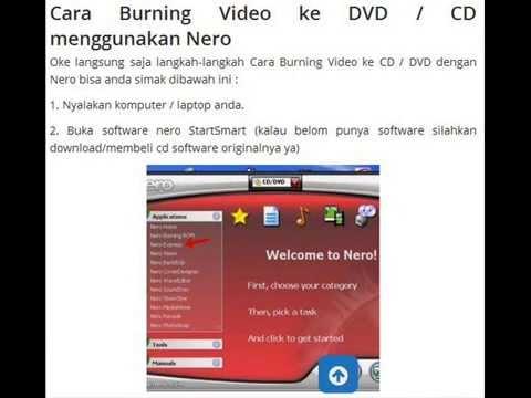 Cara burning video & data ke CD, DVD dengan mudah