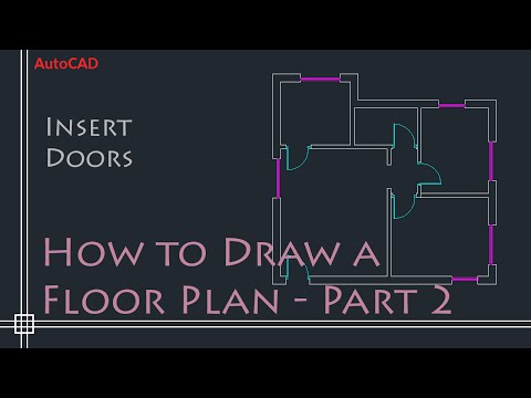 AutoCAD 2D Basics - Tutorial to draw a simple floor plan (Fast and effective!) PART 2