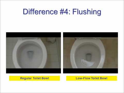 Low Flow and Regular Toilets -- The Differences Revealed!