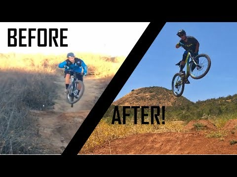 MTB PROGRESSION SESSIONS | Hardtail to full suspension | How to hit bigger jumps Mtb skills