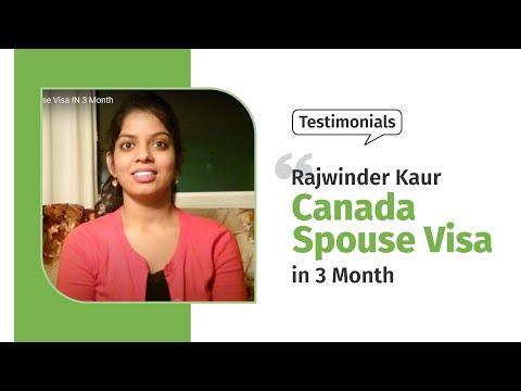 Rajwinder Kaur/Canada Spouse Visa IN 3 Month