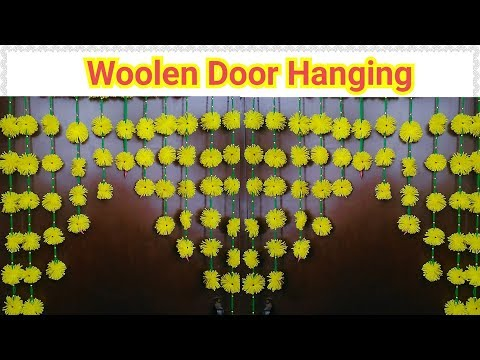 How To Make Marigold flower toran using Woolen Thread At Home..!