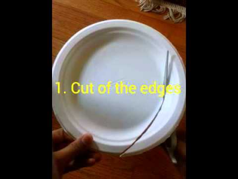 How to make paper plate roses #@jadiibooz