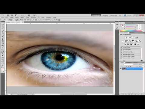 Change Eye Colour Photoshop CS5 - Tutorial