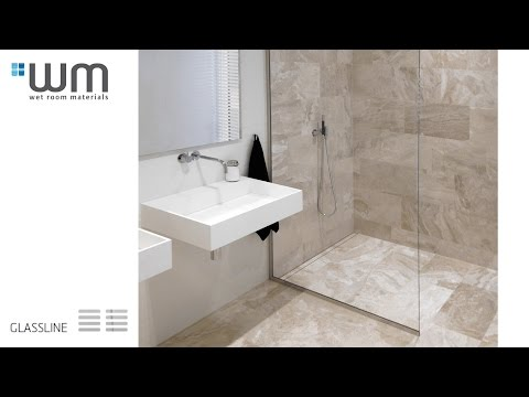 How to install Unidrain® Glassline - Wet room with integrated glass screen