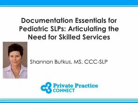 Documentation Essentials for Pediatric SLPs