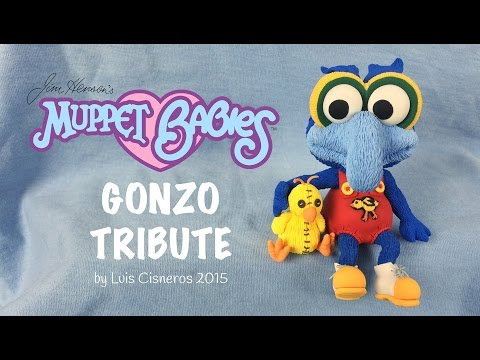 Polymer Clay Tutorial - How to create BABY GONZO tribute from the TV show Muppet Babies