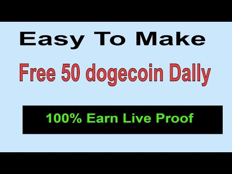 Easy To Make  Free 50 DogeCoin Dally || Live Earning Proof || Earn Free Dogecoins