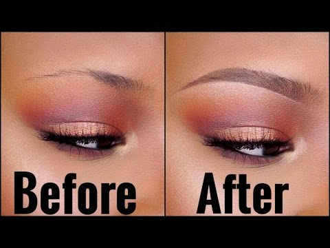 The BEST EYEBROW Tutorial for SPARSE/THIN Brows! 2016 Routine - Best