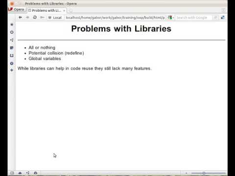 The problem with Perl 4 style libraries