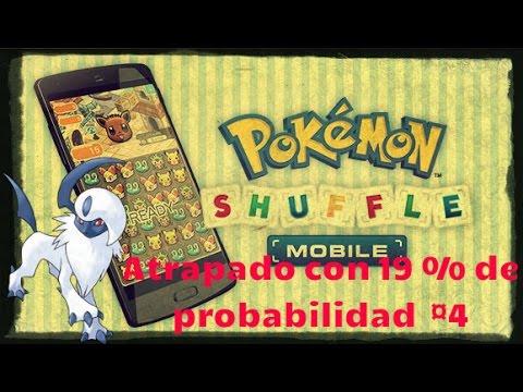 Pokemon Shuffle Atrapamos a Absol con 19 % de Probabilidad Que suerte!