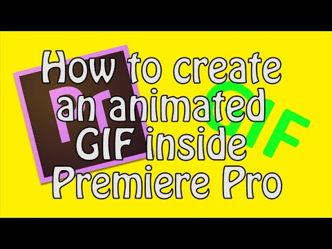 How to export a GIF in Premiere Pro