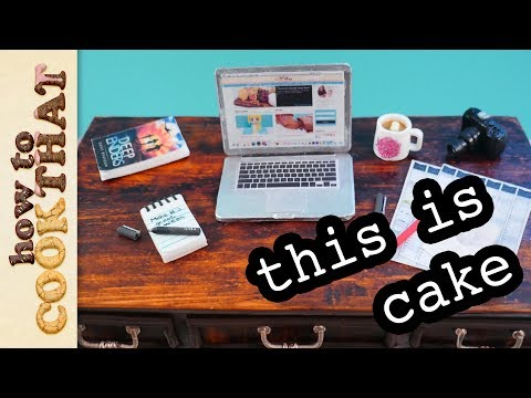 Chocolate Desk Cake with Chocolate Laptop | How To Cook That Ann Reardon