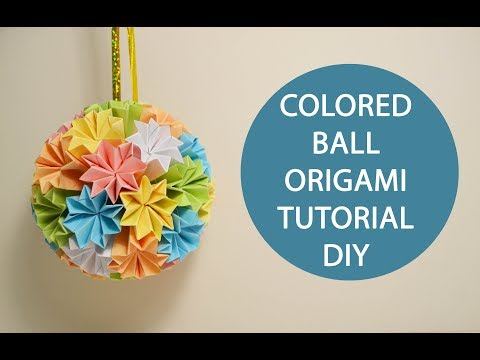 Cool Colored Ball Origami Paper Flowers Kusudama Tutorial DIY