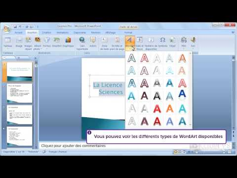 Comment utiliser l'outil WordArt sur un titre avec PowerPoint 2007 ?