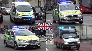 London Police cars and vans responding (Collection)
