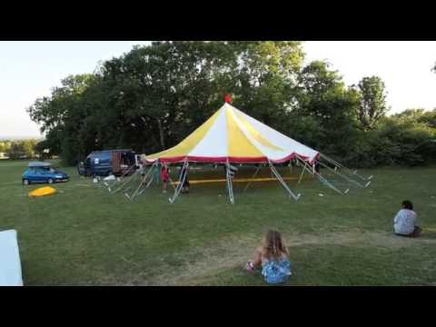 Circus Pazaz Tent build up
