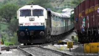 High Speed Action By Kjm Wdp4 20037 With Prasanti Express