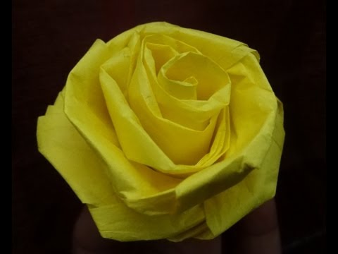 How to make a rose with tissue paper (quick and easy)