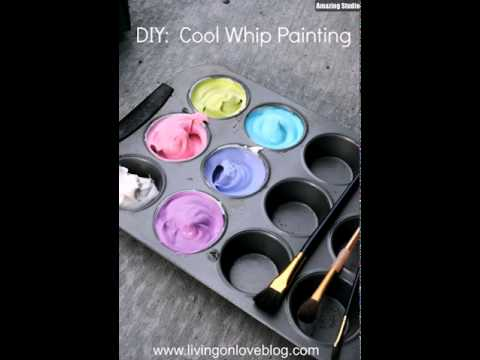Cool Whip Edible DIY Paint
