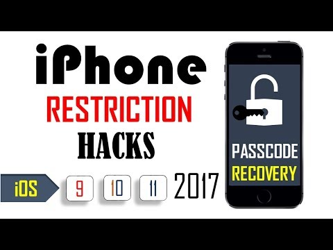 UNLOCK iPhone restriction password hack | NEW 2017
