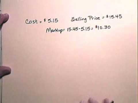 Markup on Selling Price - www.atcmathprof.com