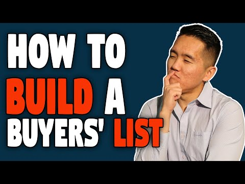 How To Build A Buyers' List - Real Estate Investing