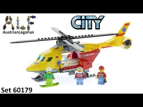 Lego City 60179 Ambulance Helicopter - Lego Speed Build Review