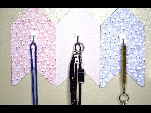 {DIY} Hanging Key Holders 📦 Cardboard Box😊 soooooo Cauuuuute 😊😊