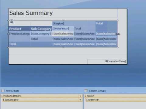 Creating a New Report in Microsoft SQL Server