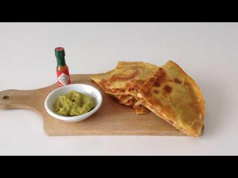 Lentils-Rice Quesadillas