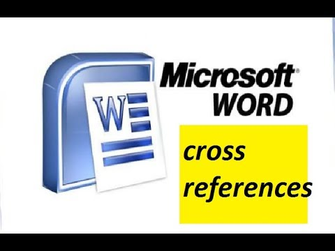 cross references option in ms word 2007 in hindi || part 16