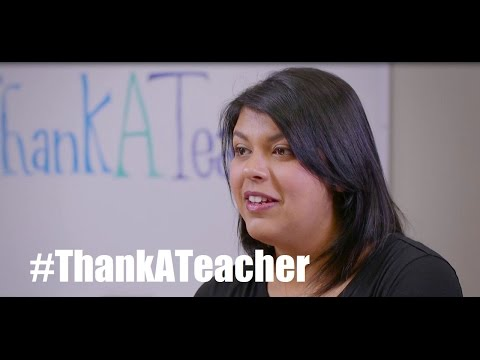 """From Us Who've Walked In Your Shoes, """"Thank You"""" - #ThankATeacher"""
