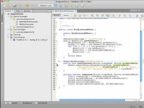 NetBeans IDE - TestNG Screencast