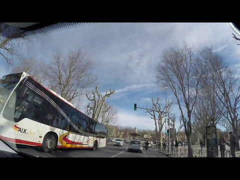 Timelapse drive in French Riviera -Marseille Airport - Aix-en-Provence - Cannes - Monaco - Menton