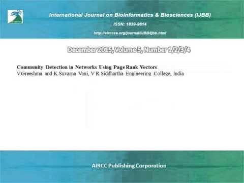 International Journal on Bioinformatics & Biosciences