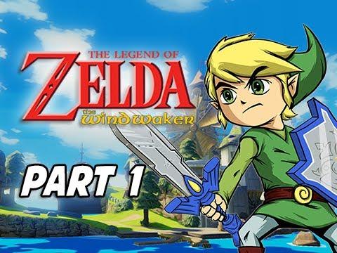 The Legend of Zelda The Wind Waker HD Walkthrough Part 1 - Sword & Shield (Wii U Gameplay)