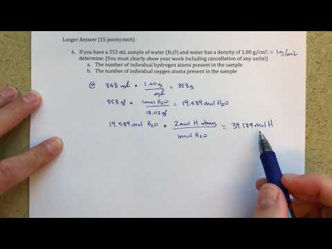 Calculating the Number of Atoms in a Sample