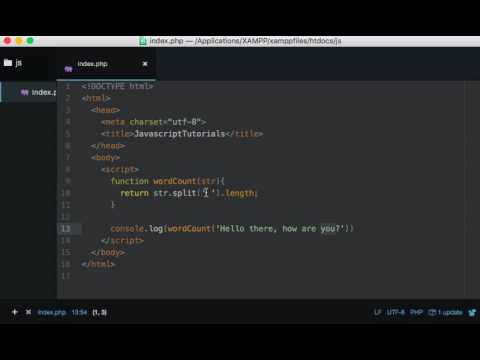 JavaScript Basics: Count the words in a string