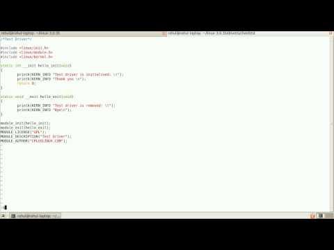 Linux Kernel Tutorail #2: Writing dynamic loadable kernel module