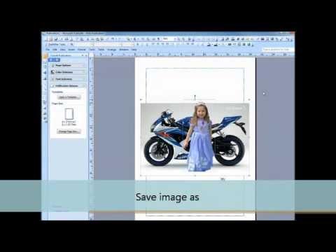 Create layered images using microsoft publisher