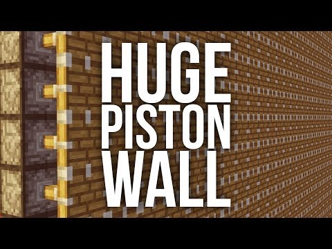 How to Make a Huge Piston Wall in Minecraft